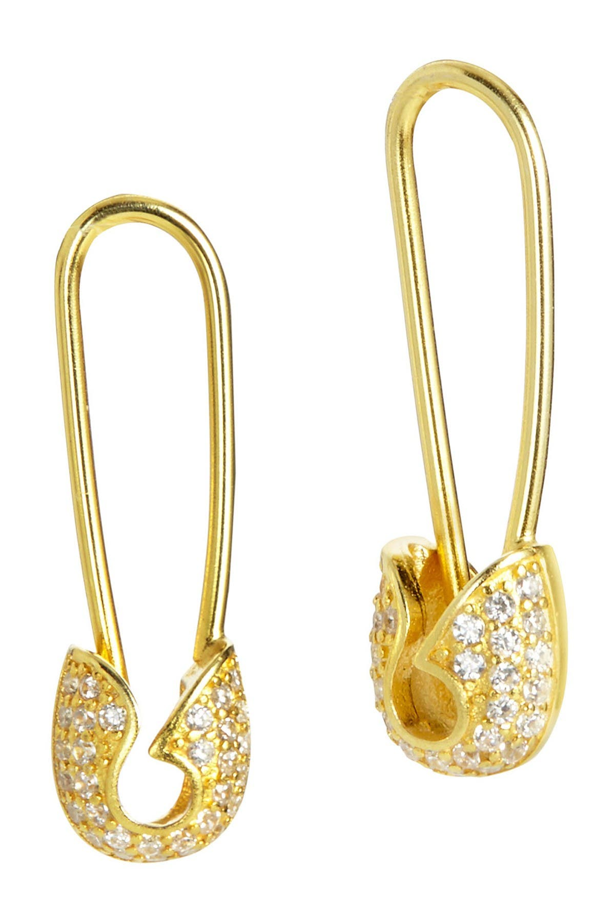 Image of Savvy Cie 18K Yellow Gold Vermeil Sterling Silver Cubic Zirconia Drop Earrings