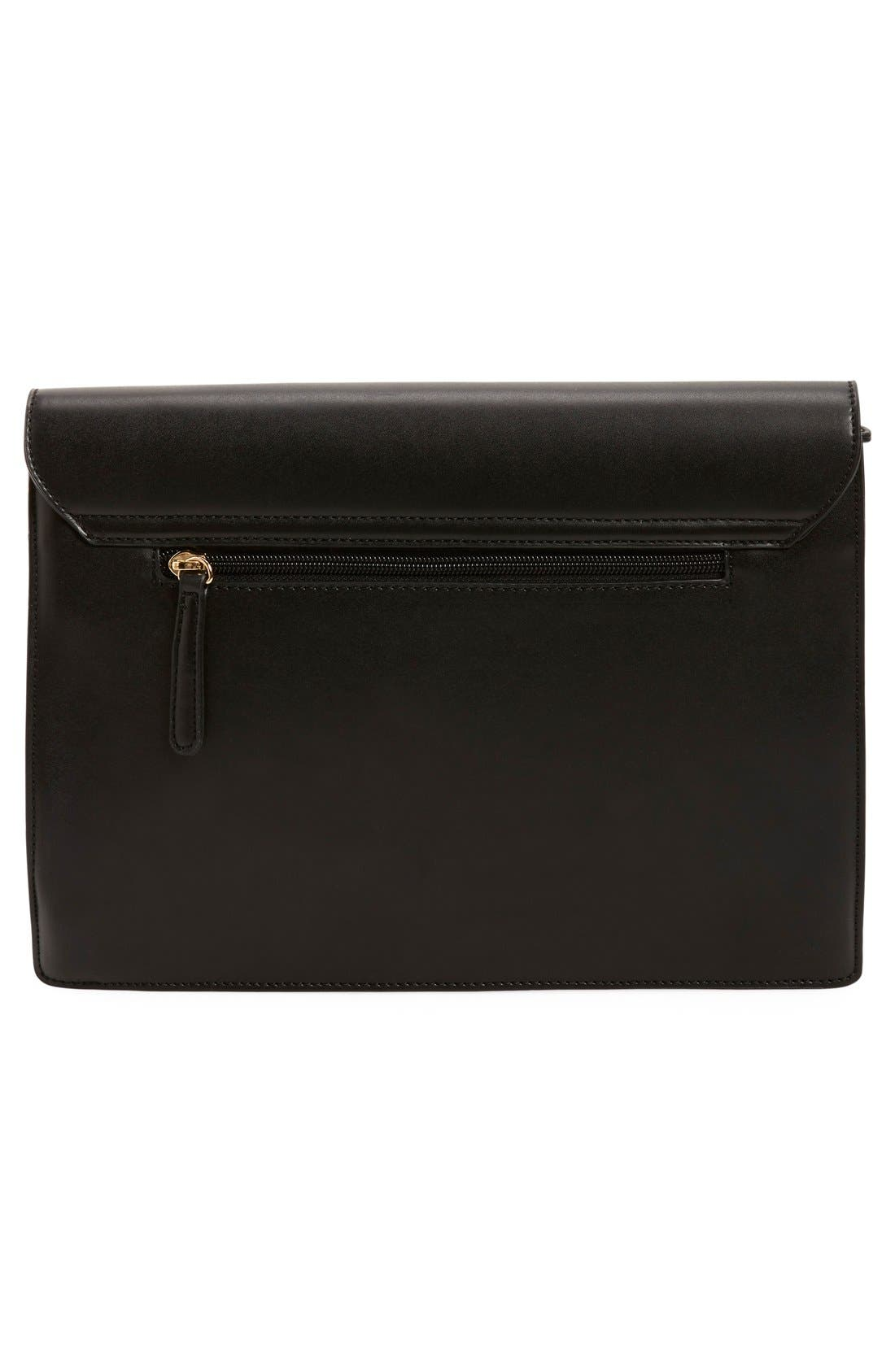 ,                             'Exotic' Boxy Flap Clutch,                             Alternate thumbnail 4, color,                             010