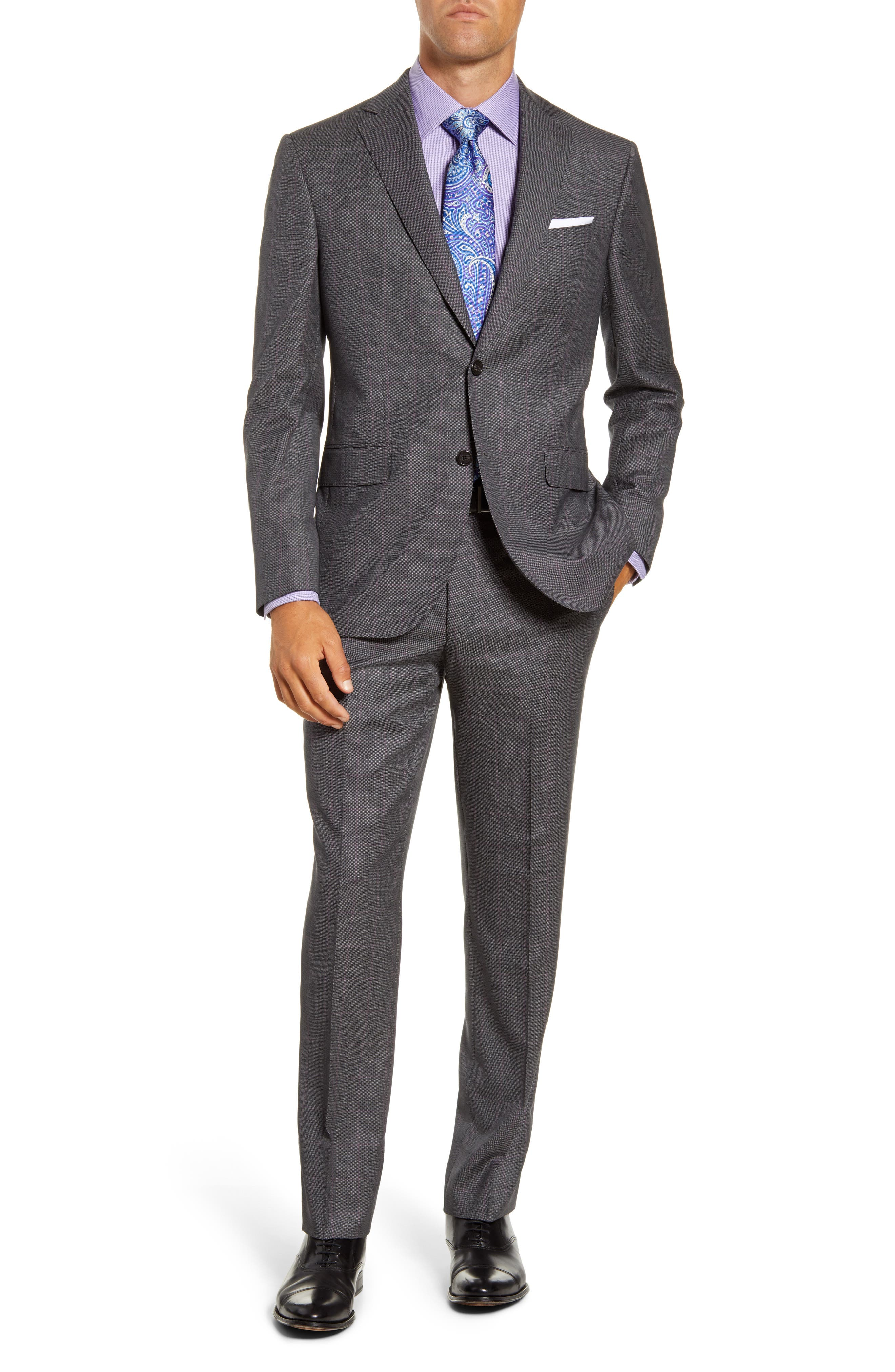 Image of David Donahue Ryan Classic Fit Suit