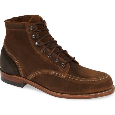 Wolverine 1000 Mile 1940 Apron Toe Boot, Brown