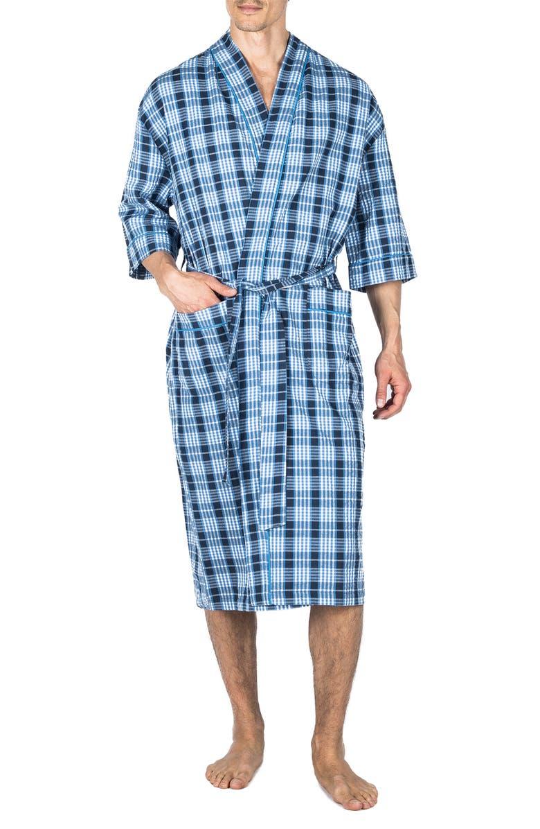 MAJESTIC INTERNATIONAL Sunsoaked Seersucker Robe, Main, color, CAPRI