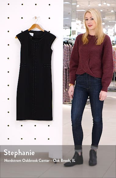 Rivet Detail Luna Cutout Sheath Dress, sales video thumbnail