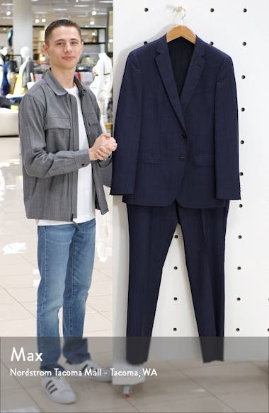 Huge/Genius Trim Fit Plaid Wool Suit, sales video thumbnail