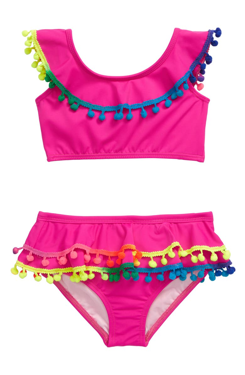 HEART AND HARMONY Pompom Two-Piece Swimsuit, Main, color, 670