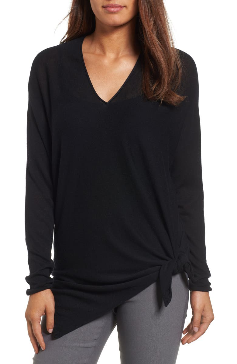 NIC+ZOE Essential Side Tie Top, Main, color, 004