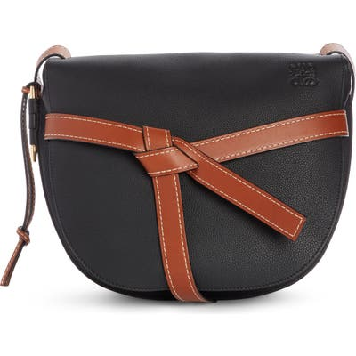Loewe Gate Small Leather Crossbody Bag - Black