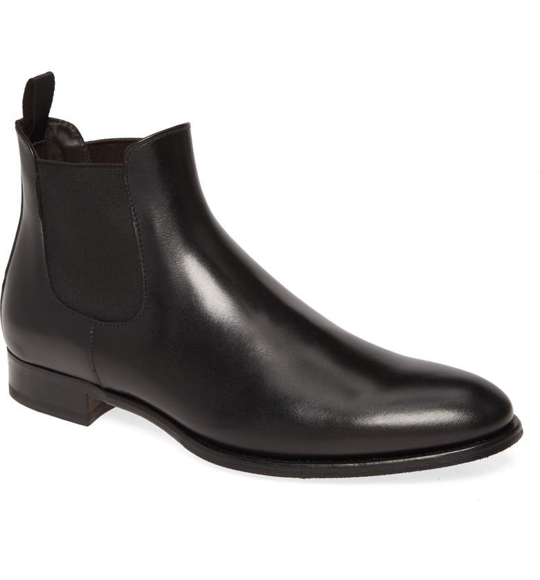TO BOOT NEW YORK Shelby Mid Chelsea Boot, Main, color, BLACK/BLACK