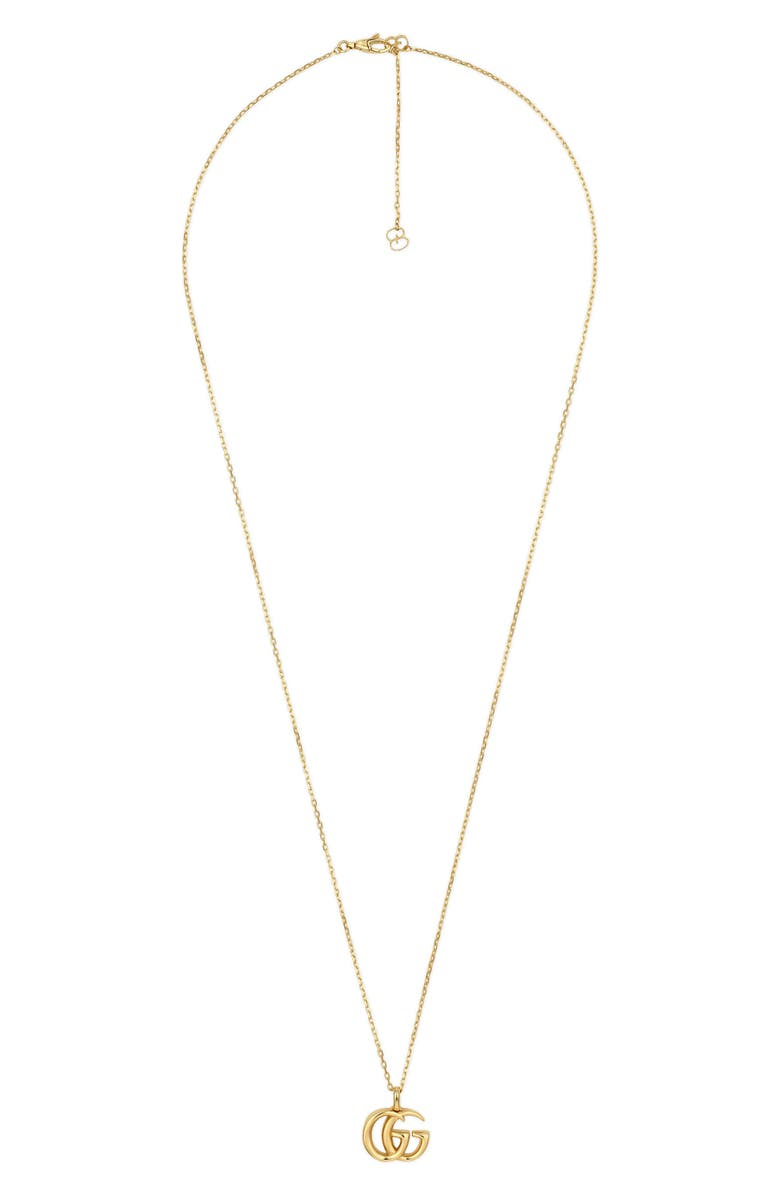 GUCCI Double-G Pendant Necklace, Main, color, YELLOW GOLD