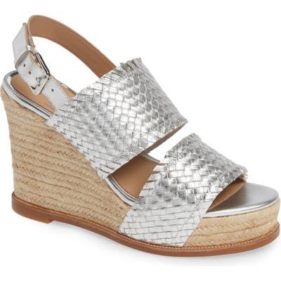 Linea Paolo Elaine Espadrille Wedge Sandal, Metallic