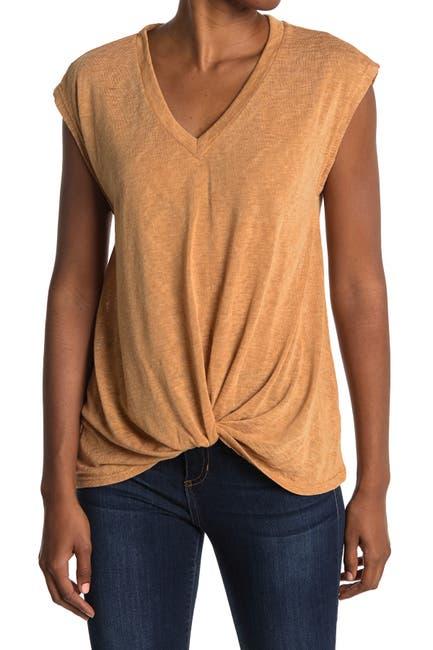 Image of Pleione Crepe Twist Front Shirt