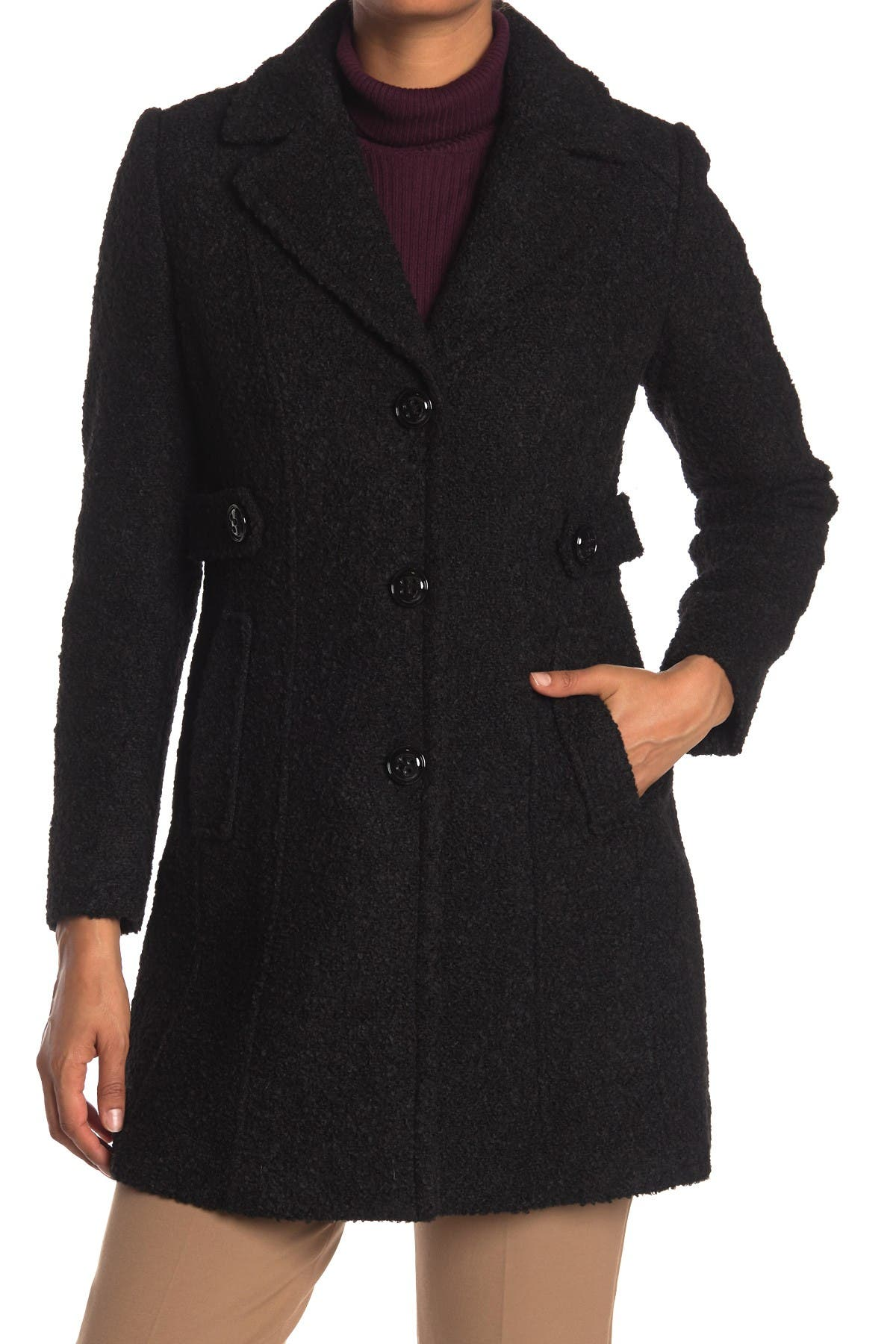 Image of Gallery Notch Collar Boucle Coat