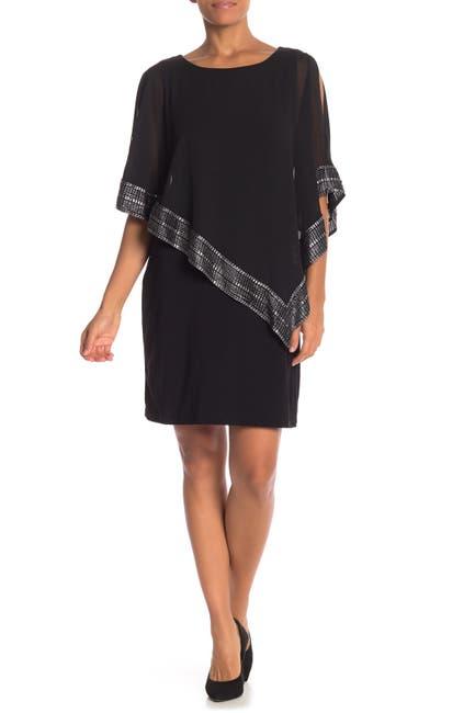 Image of SLNY Foil Trim Popover Dress