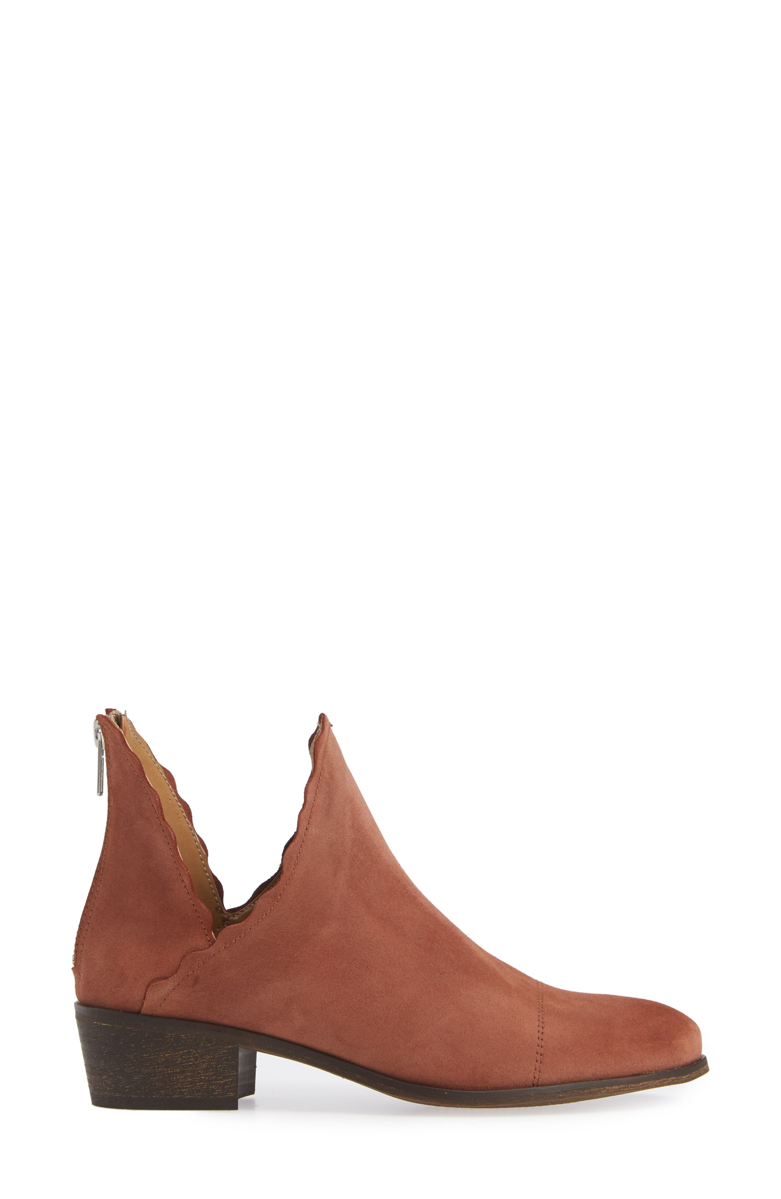 ,                             Bae Scalloped Bootie,                             Alternate thumbnail 3, color,                             TERRACOTTA SUEDE