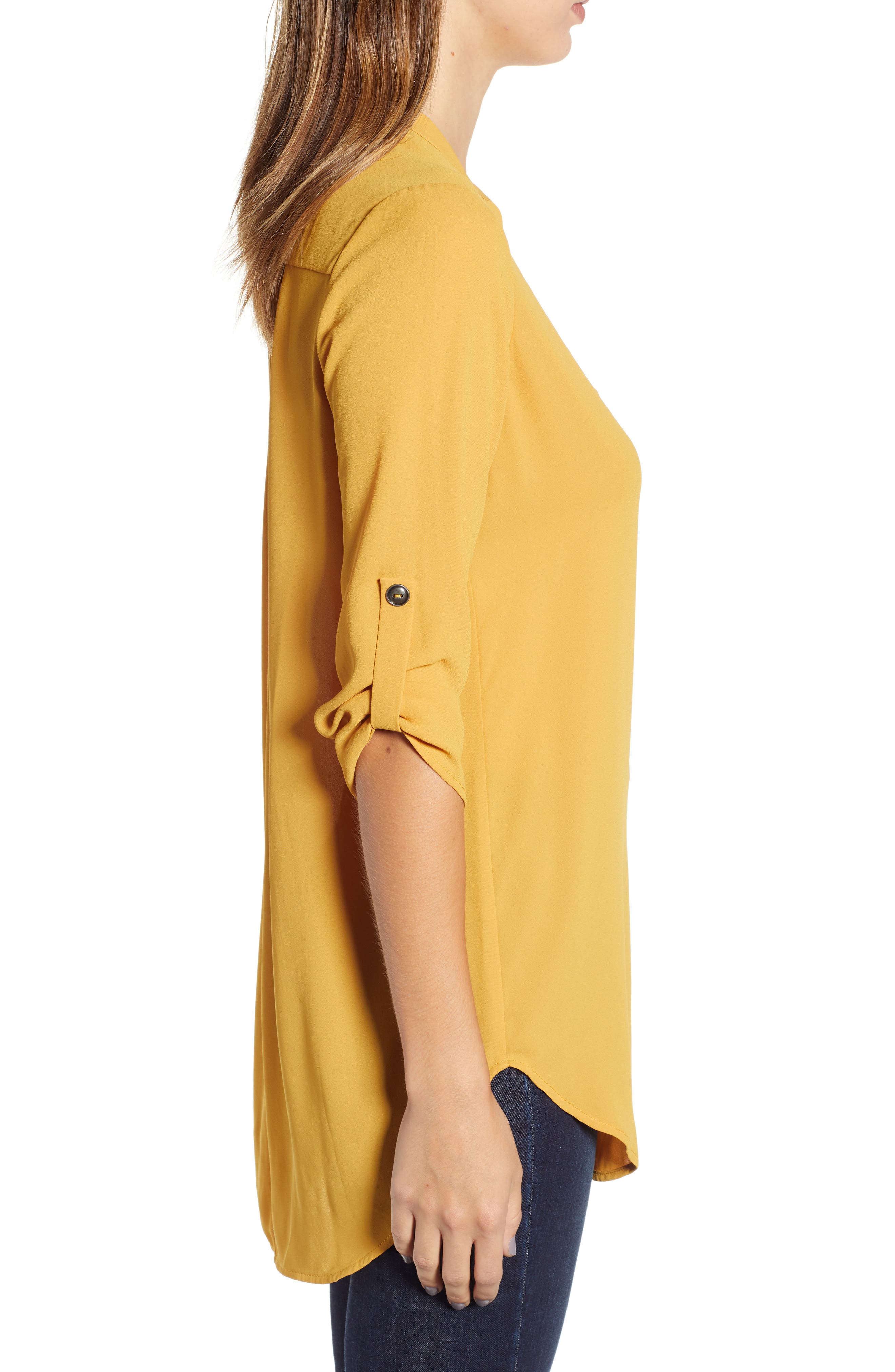 ,                             Perfect Roll Tab Sleeve Tunic,                             Alternate thumbnail 156, color,                             708