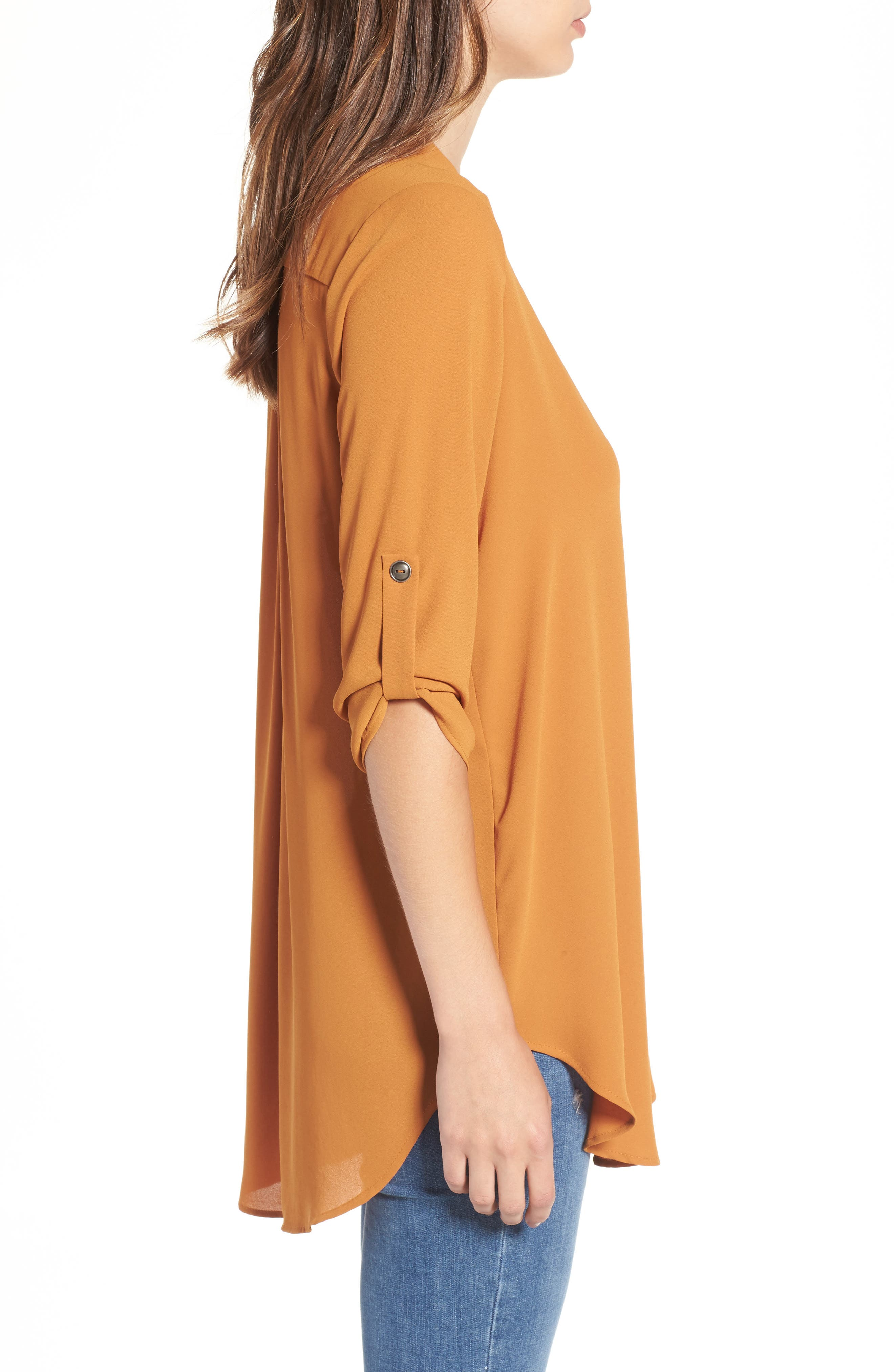 ,                             Perfect Roll Tab Sleeve Tunic,                             Alternate thumbnail 48, color,                             245