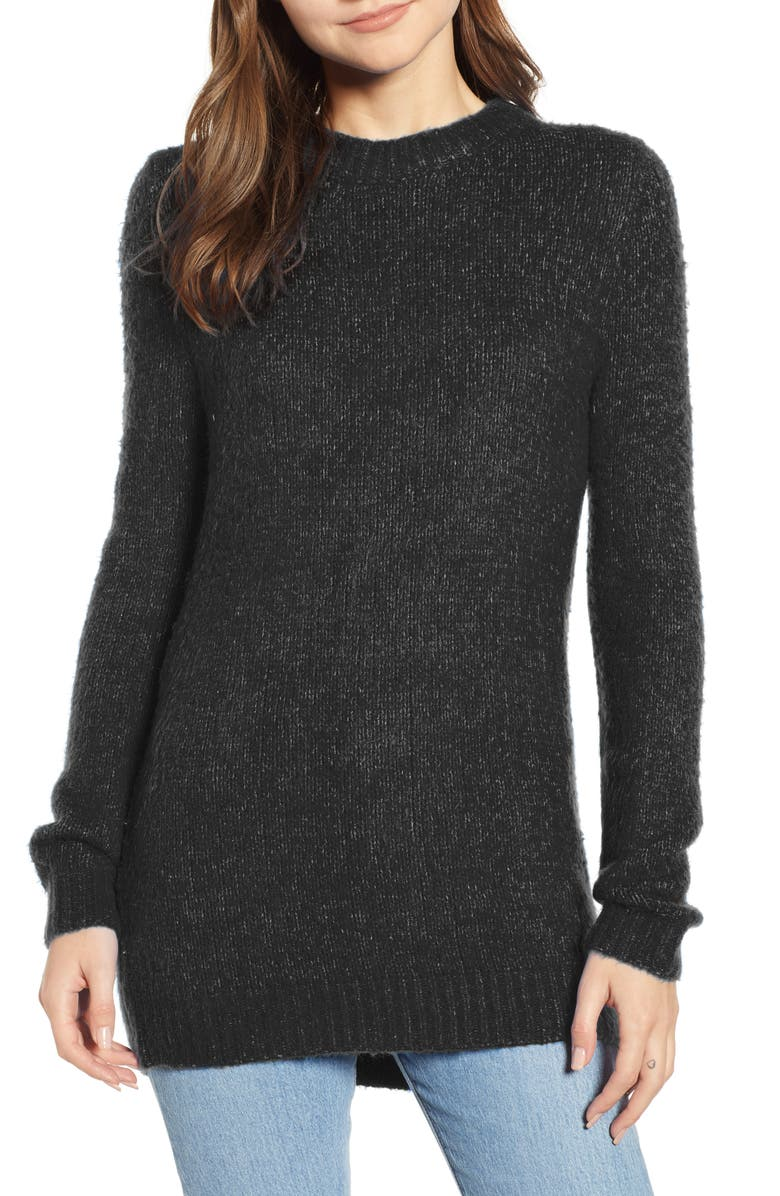 TREASURE & BOND Crewneck Sweater, Main, color, BLACK