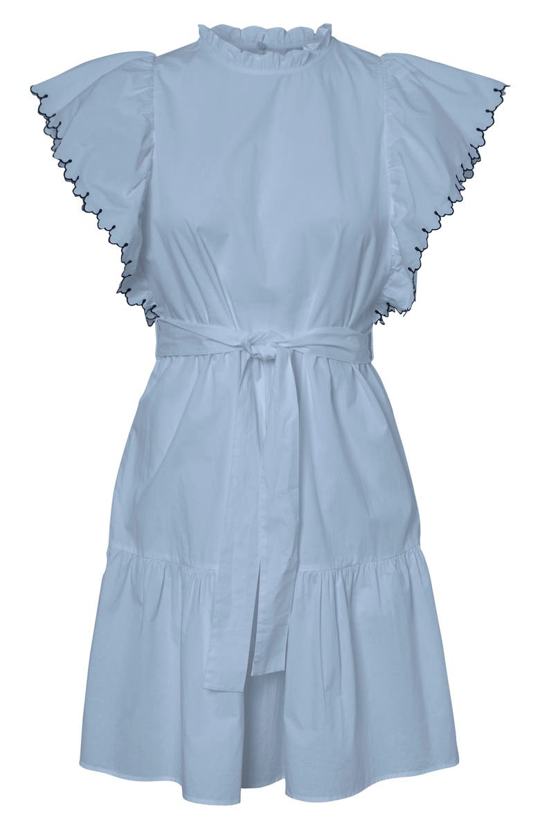 AWARE BY VERO MODA Laci Organic Cotton Minidress, Main, color, CASHMERE BLUE