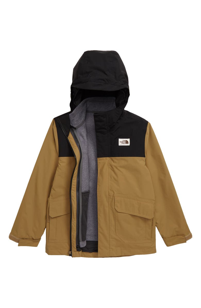 THE NORTH FACE Gordon Lyons TriClimate<sup>®</sup> Waterproof Hooded 3-in-1 Snowsports Jacket, Main, color, BRITISH KHAKI