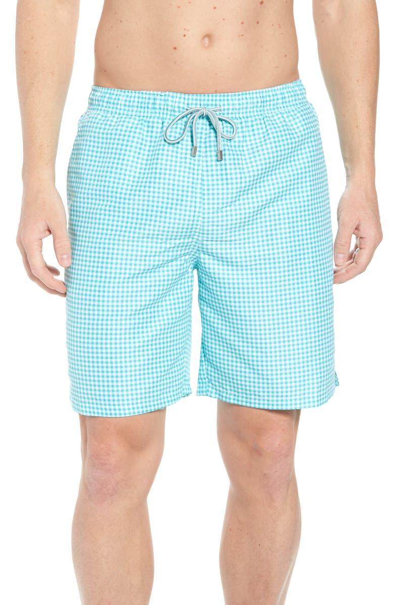 PETER MILLAR Gingham Style Swim Trunks, Main, color, 327