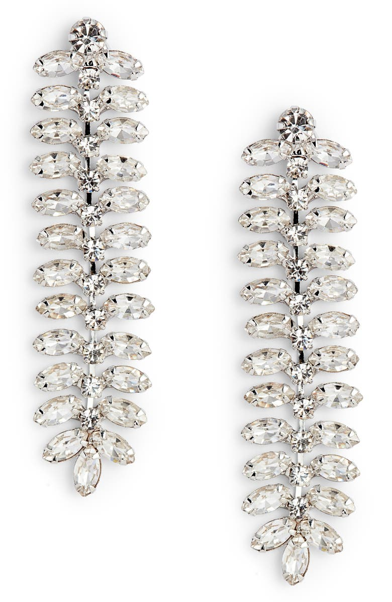 CRISTABELLE Linear Crystal Earrings, Main, color, 040
