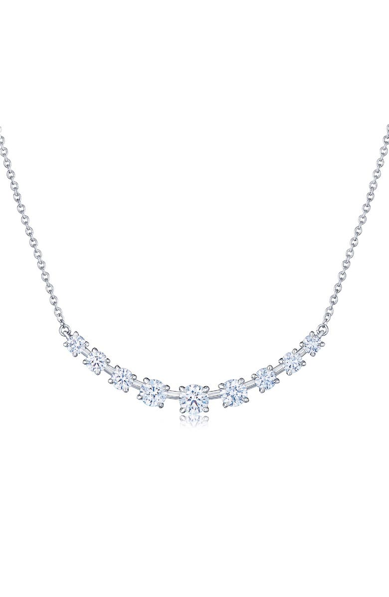 KWIAT Starry Night Diamond Bar Necklace, Main, color, DIAMOND/ GOLD
