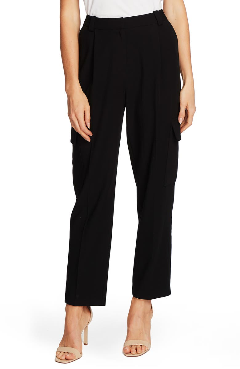 VINCE CAMUTO Cargo Detail Textured Twill Pants, Main, color, 001