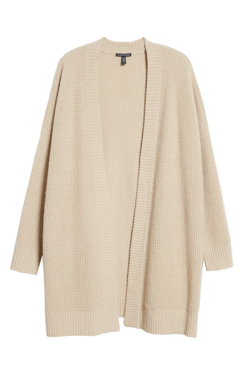 EILEEN FISHER Recycled Cashmere Blend V-Neck Cardigan, Main, color, MAPLE OAT