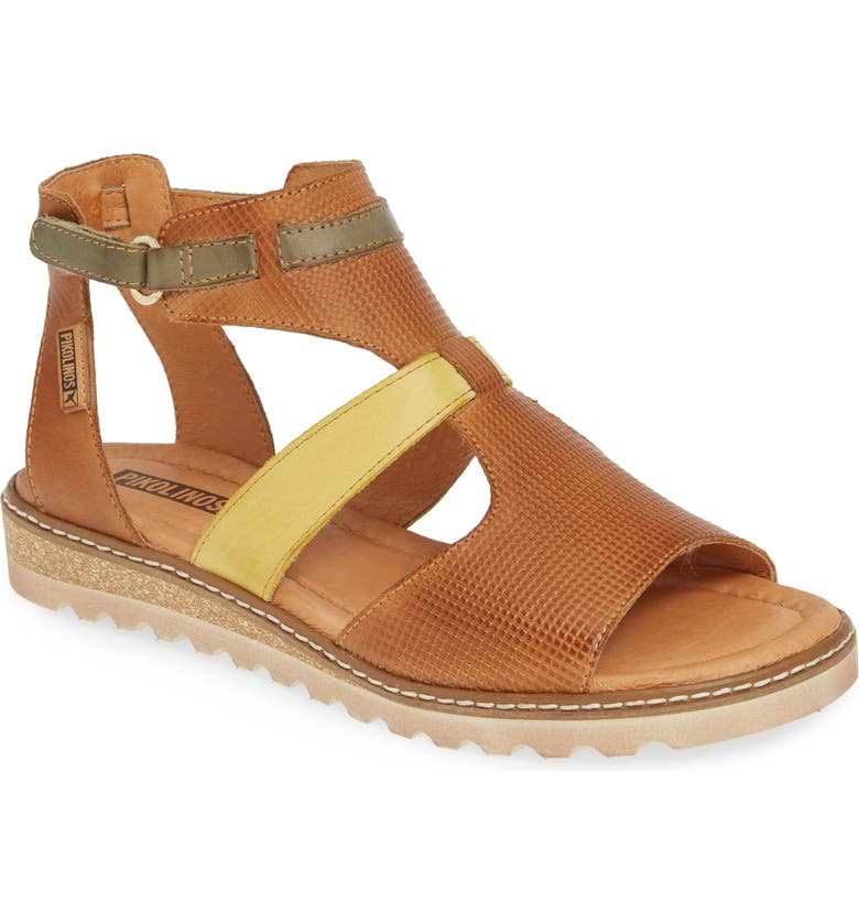 PIKOLINOS Alcudia Multiband Sandal, Main, color, BRANDY LEATHER