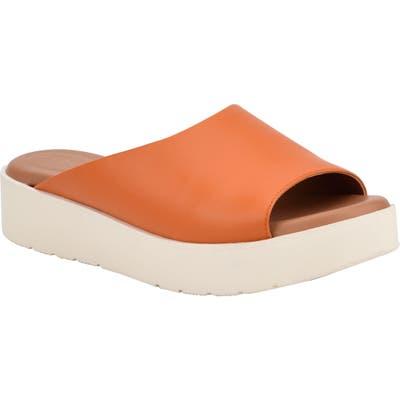 Evolve Flora Slide Sandal- Orange