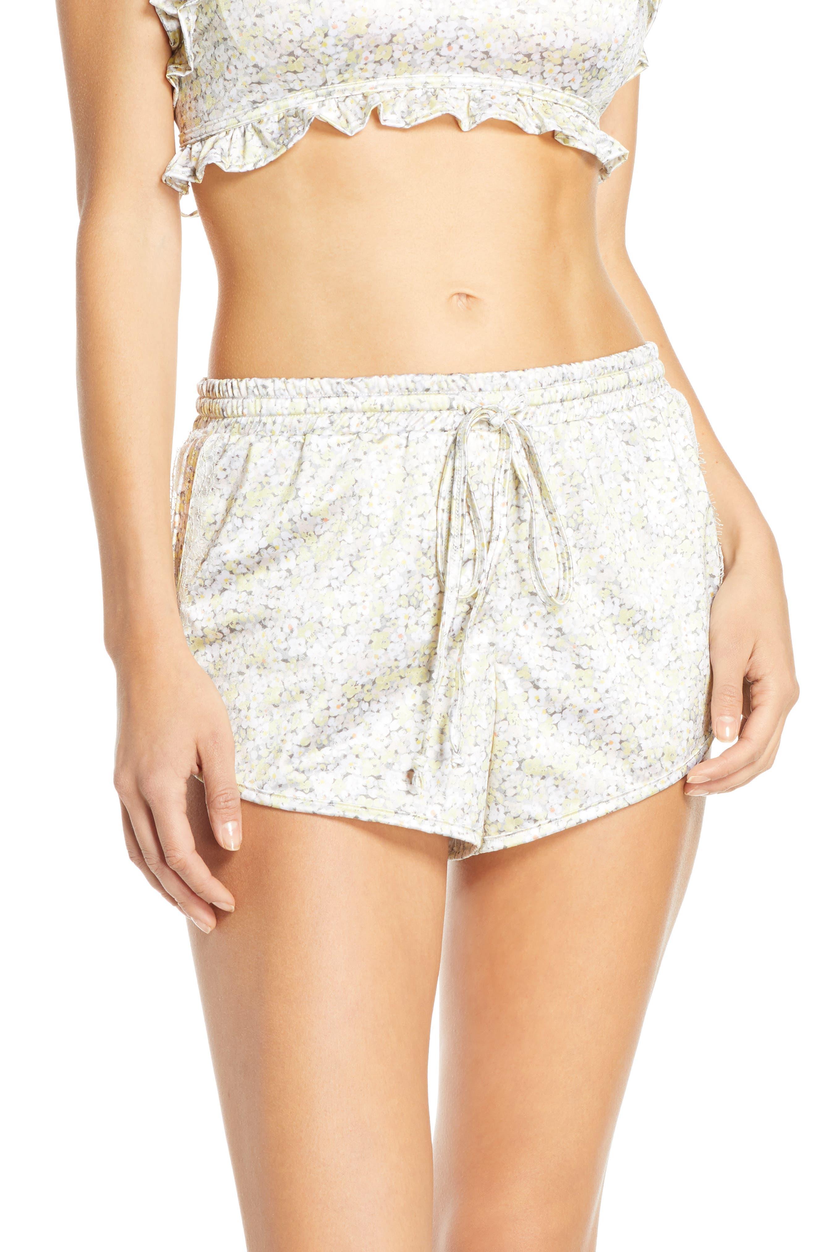 Jason Wu Satin Pajama Shorts, Yellow