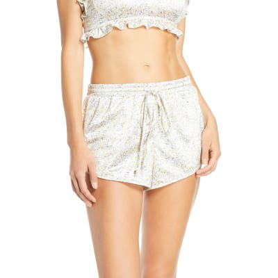 Jason Wu Satin Pajama Shorts, Yellow