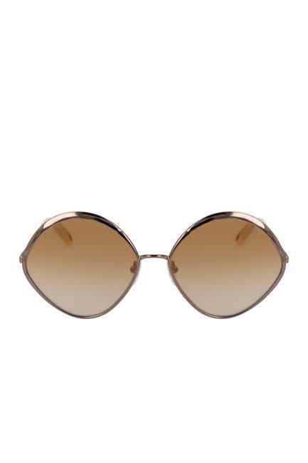 Image of Chloe Oval 60mm Sunglasses