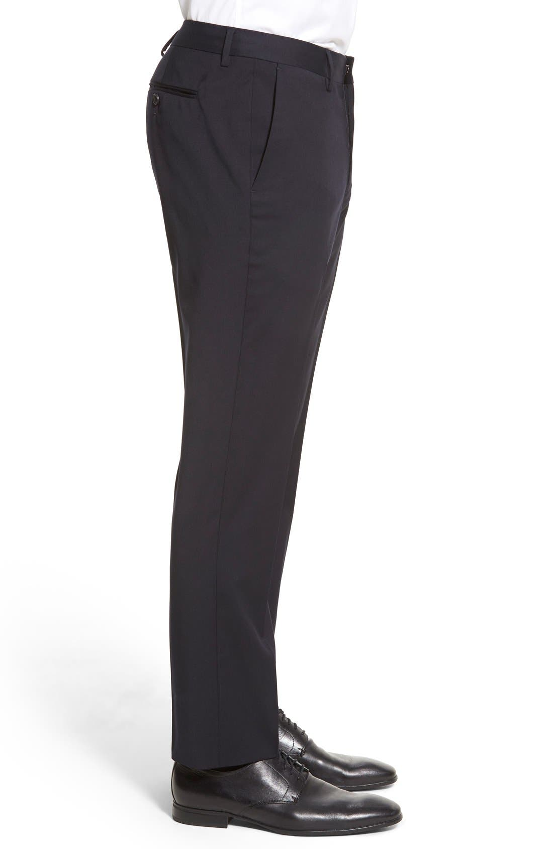 ,                             Jetsetter Slim Fit Flat Front Stretch Wool Trousers,                             Alternate thumbnail 30, color,                             400