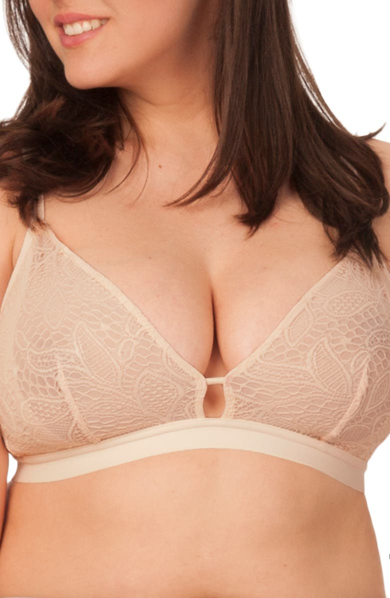 LIVELY The Palm Lace Busty Bralette, Main, color, TOASTED ALMOND