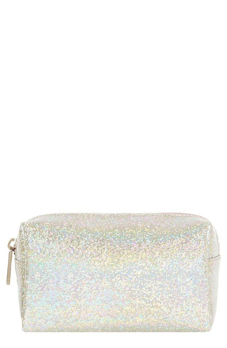 SKINNYDIP Disco Makeup Bag, Main, color, NO COLOR
