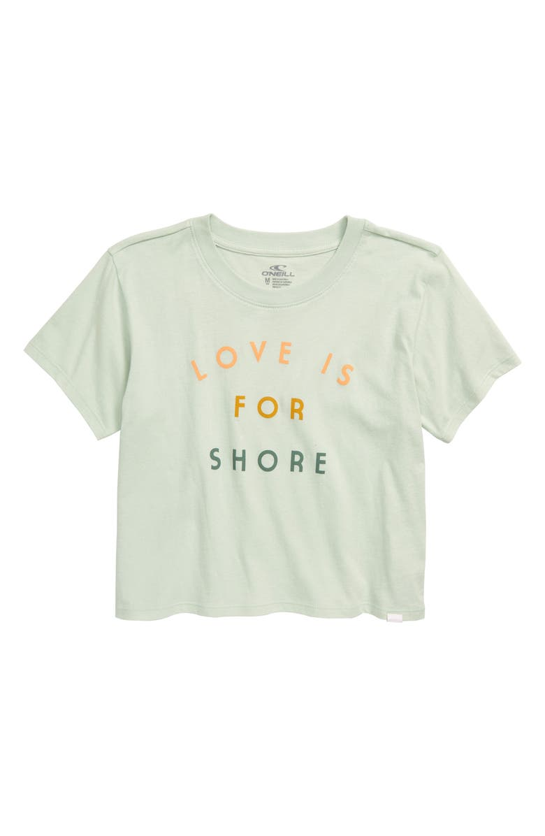 O'NEILL Shore Thing Graphic Cotton Tee, Main, color, SURF SPRAY