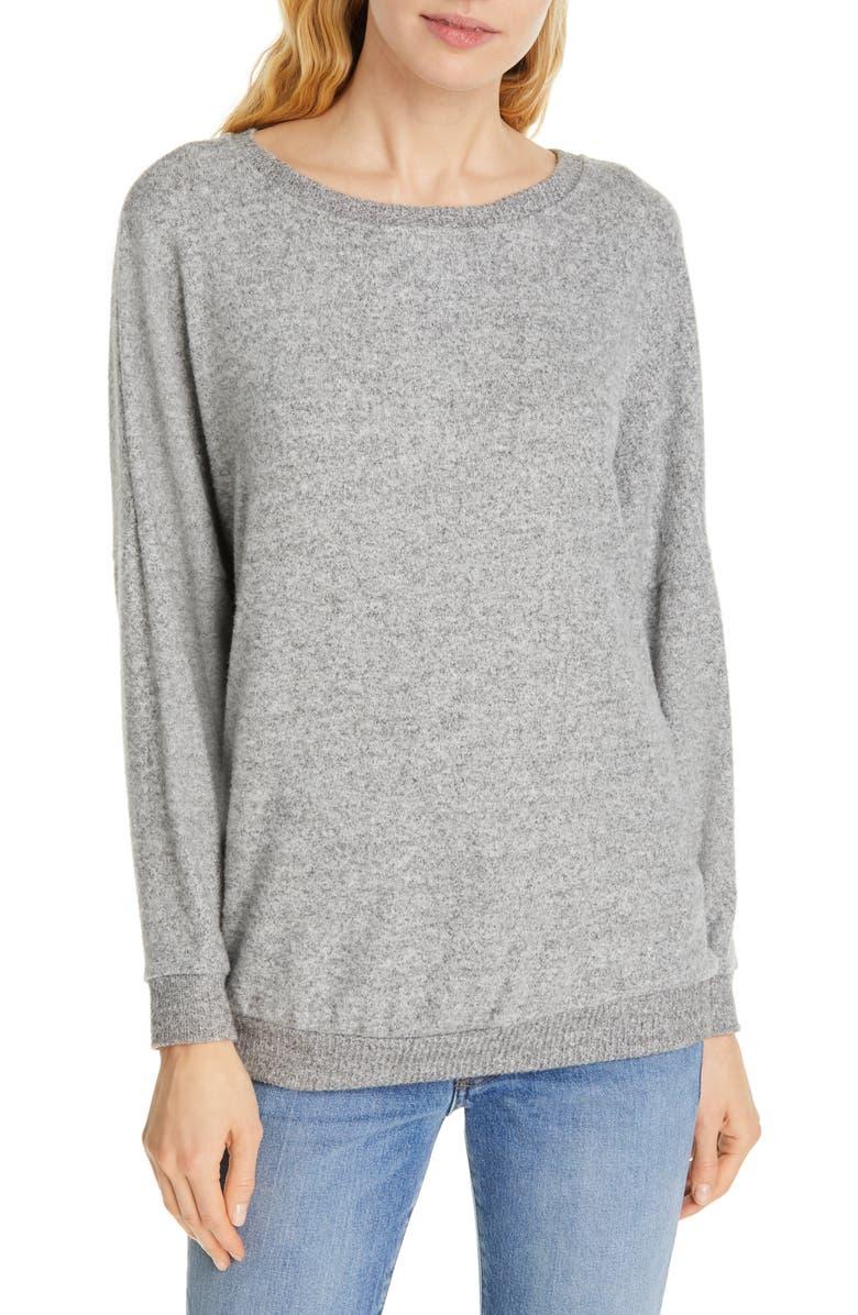 JOIE Jennina Drop Shoulder Sweater, Main, color, HEATHER GREY