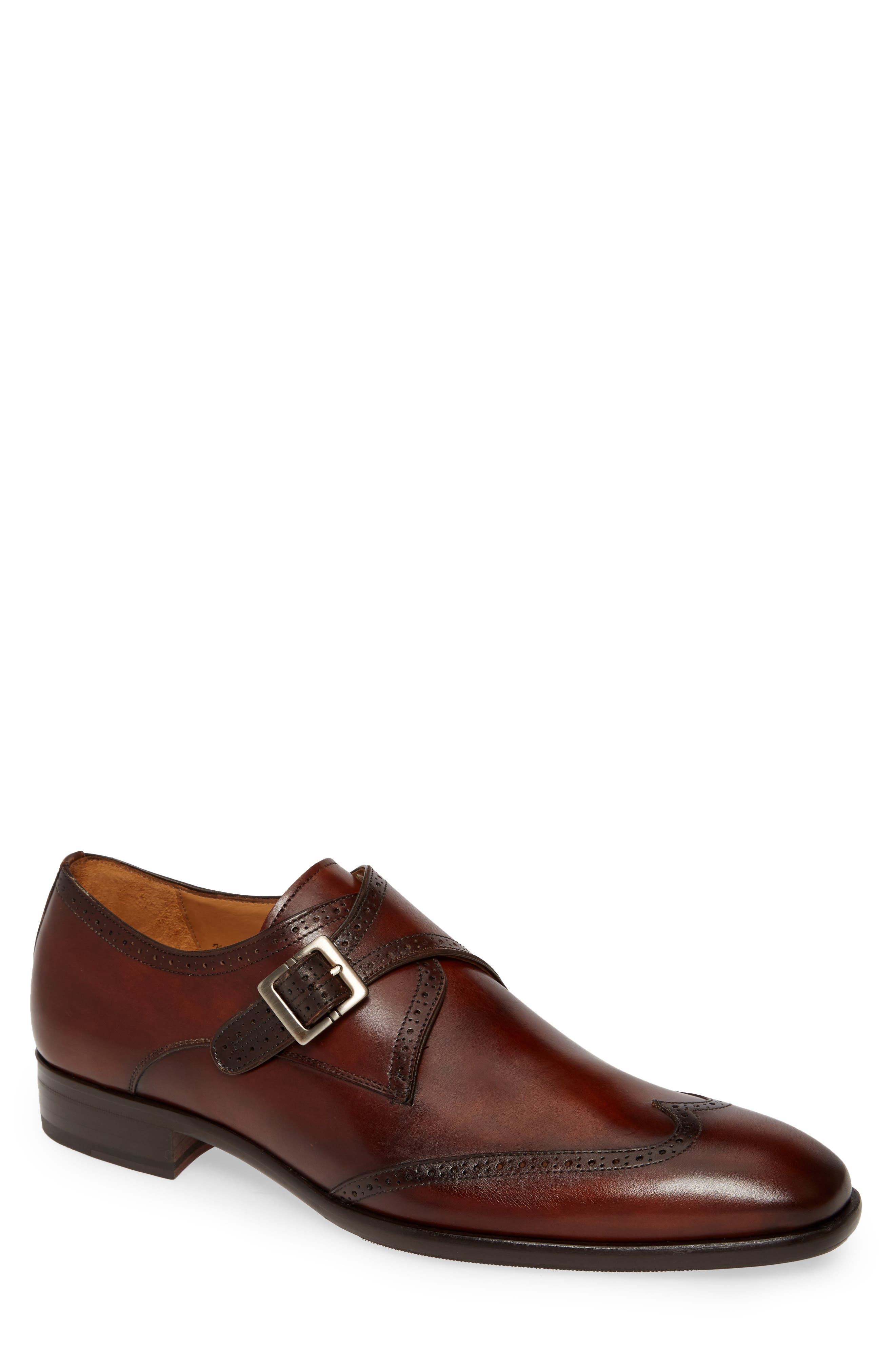 Forest Single Monk Strap Wingtip Shoe