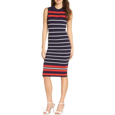 Eliza J Stripe Knit Sheath Dress