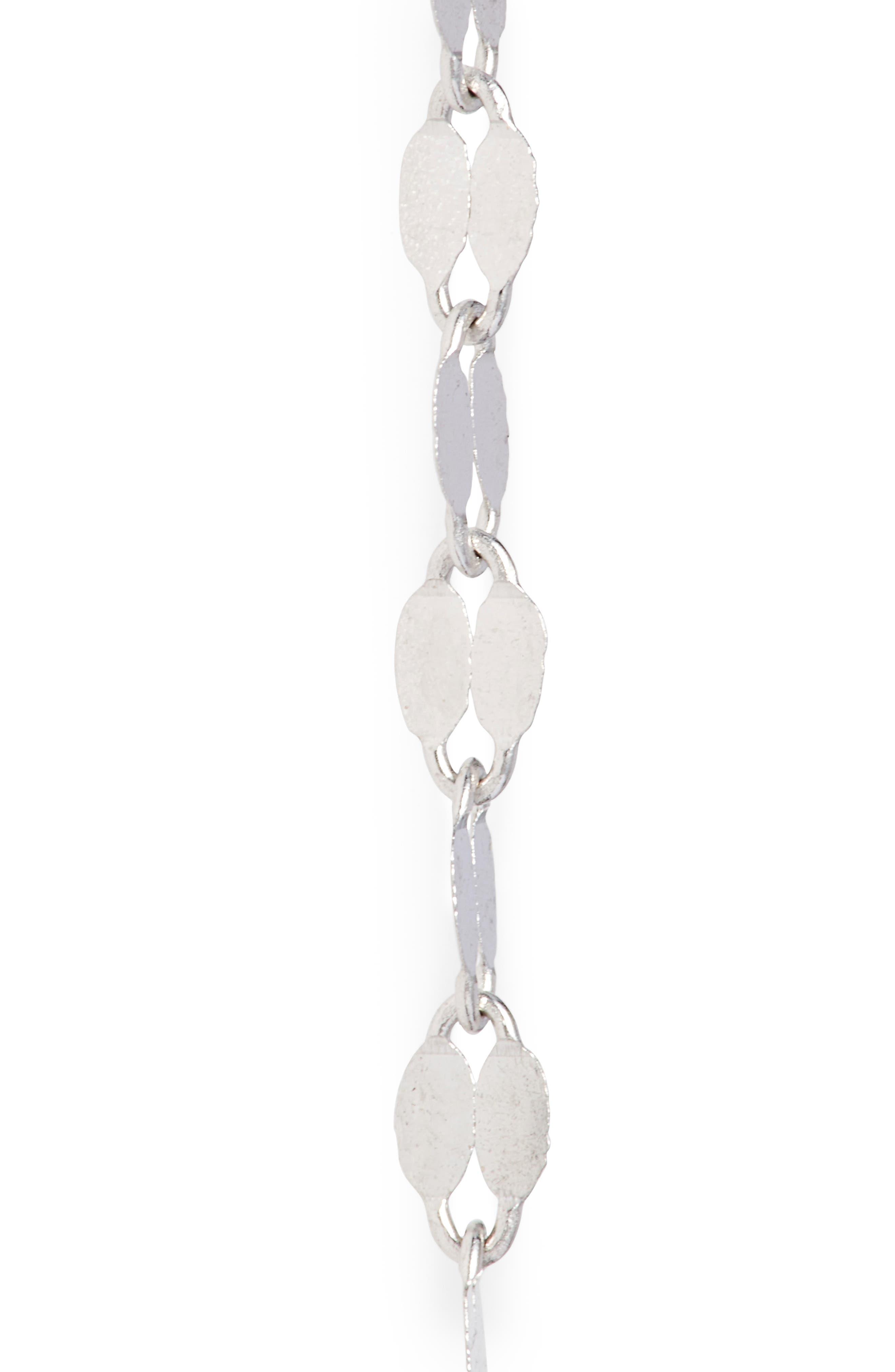 ,                             'Blake' Lariat Necklace,                             Alternate thumbnail 4, color,                             WHITE GOLD