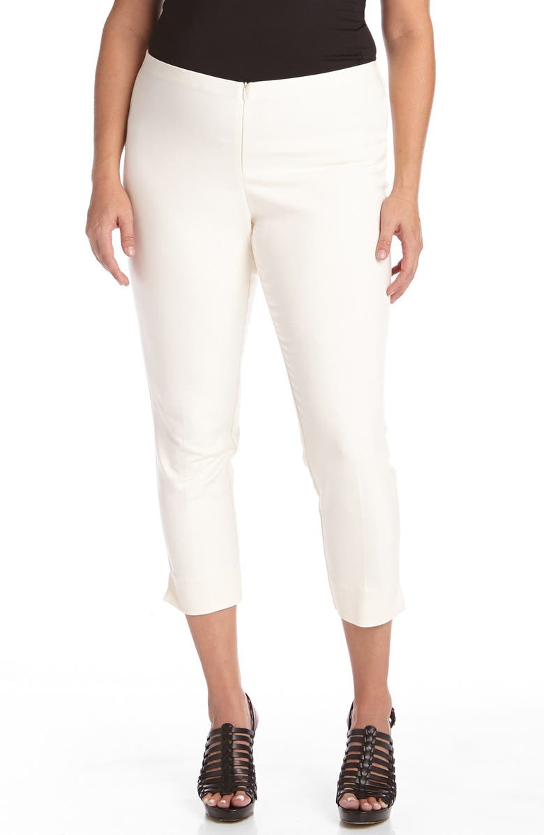 KAREN KANE Stretch Capri Pants, Main, color, WHITE