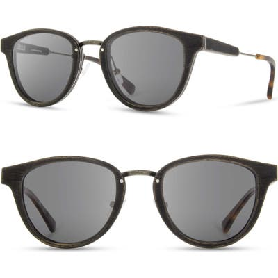Shwood Ainsworth 4m Sunglasses - Distressed Walnut/ Grey
