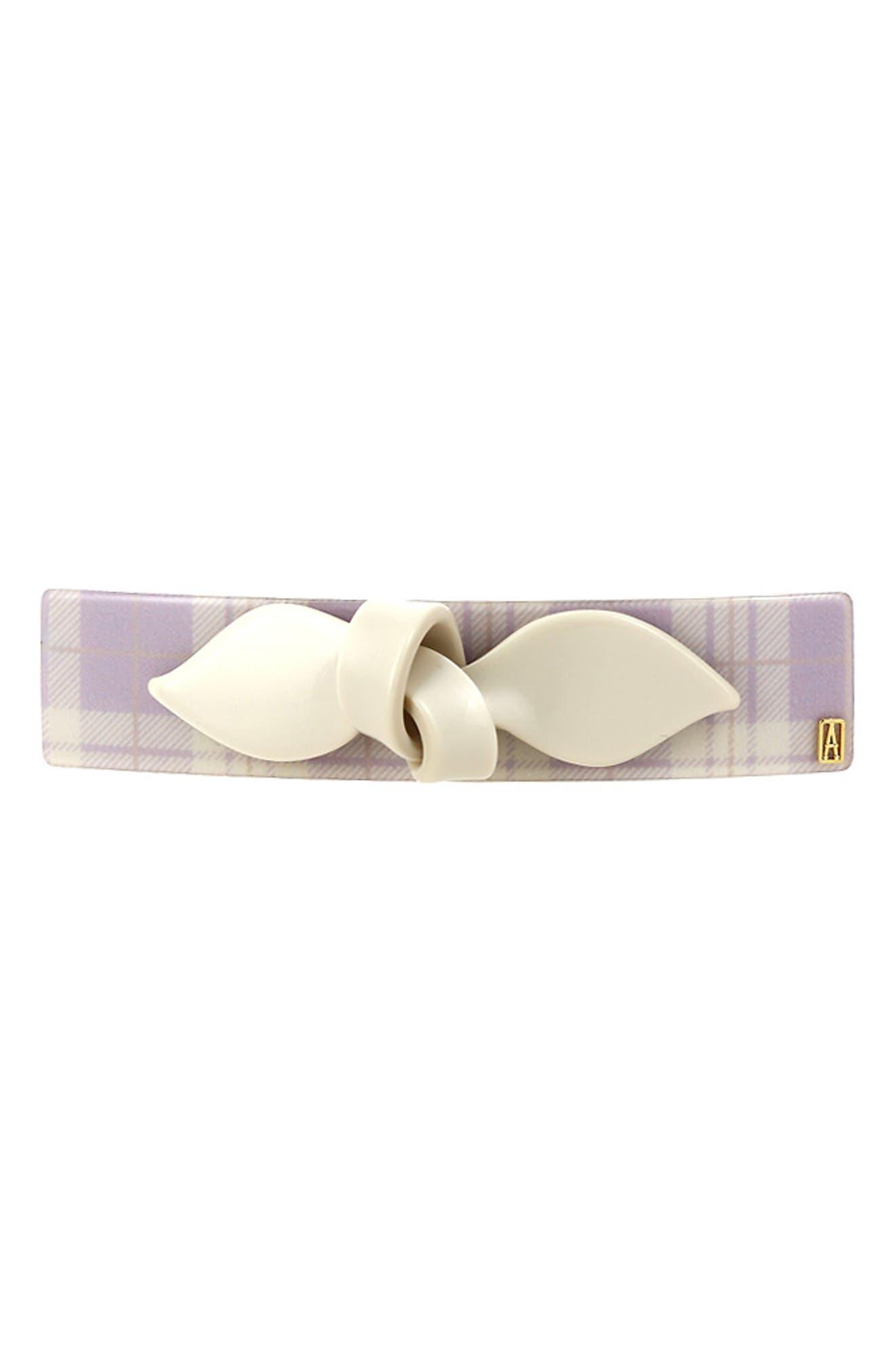 Bow Detail Plaid Barrette