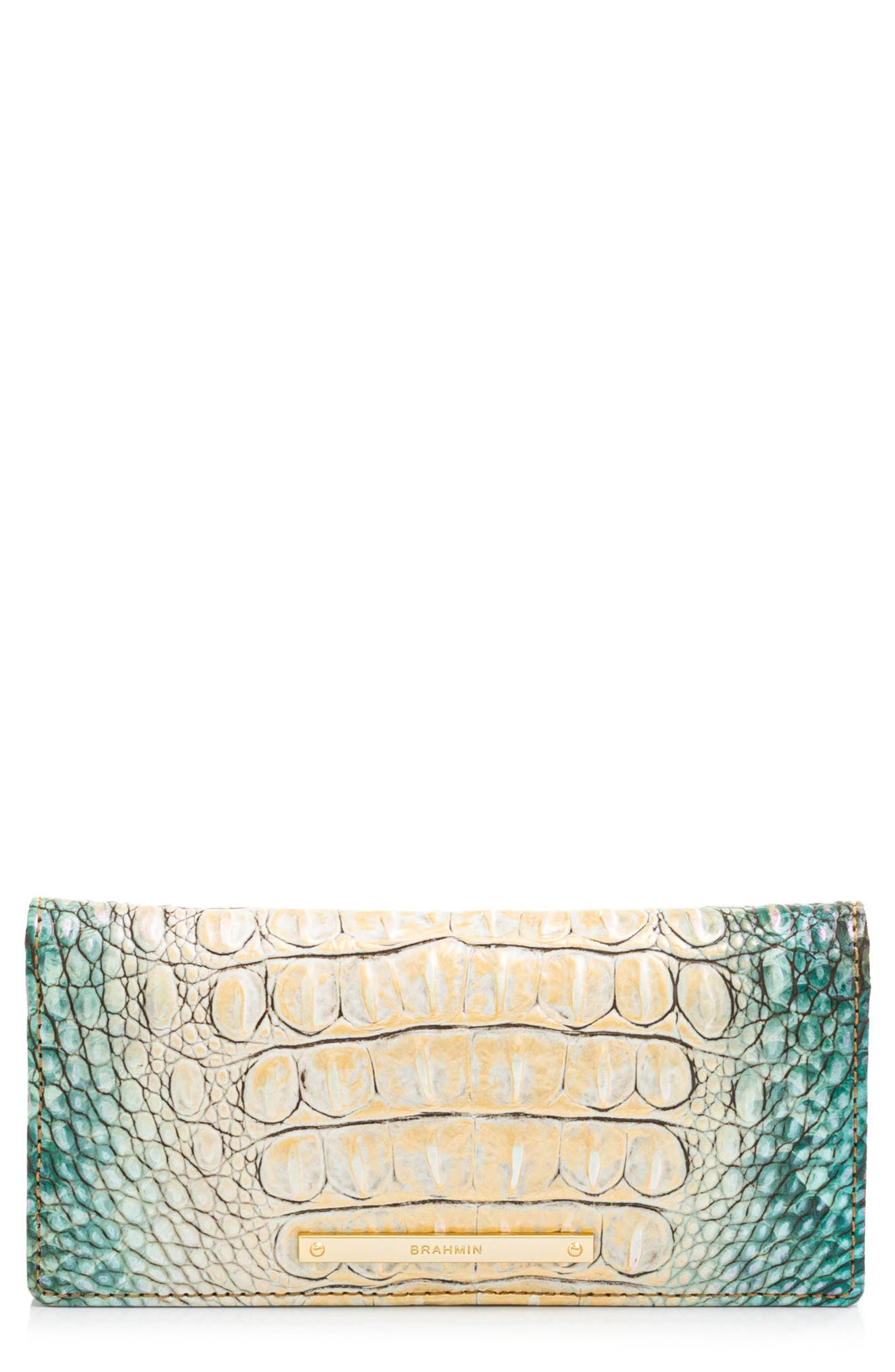Ady Croc Embossed Leather Wallet