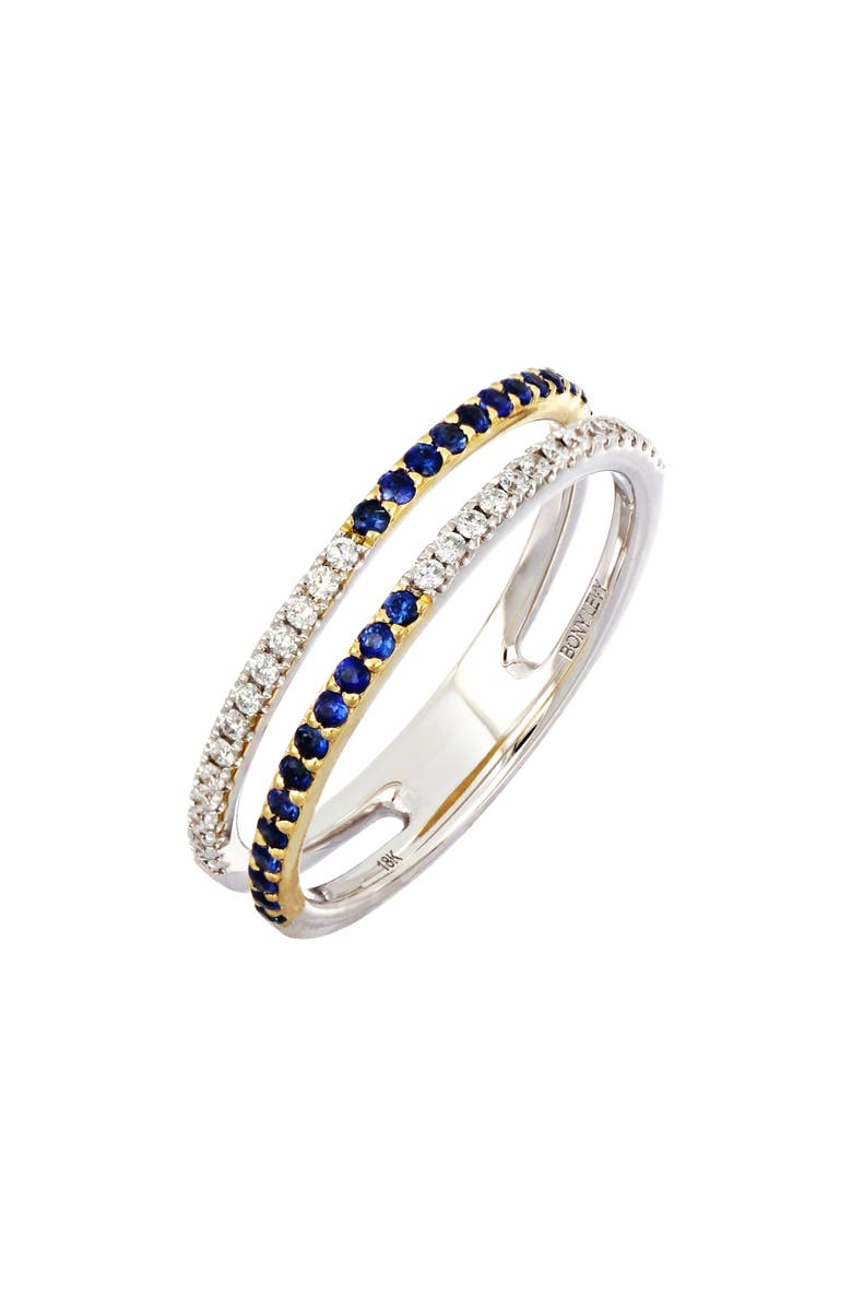 BONY LEVY Two-Row Sapphire & Diamond Ring, Main, color, 711