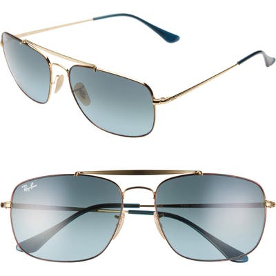 Ray-Ban The Colonel 61Mm Aviator Sunglasses - Metallic Gold