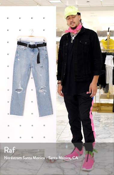 Belted Straight Leg Jeans, sales video thumbnail