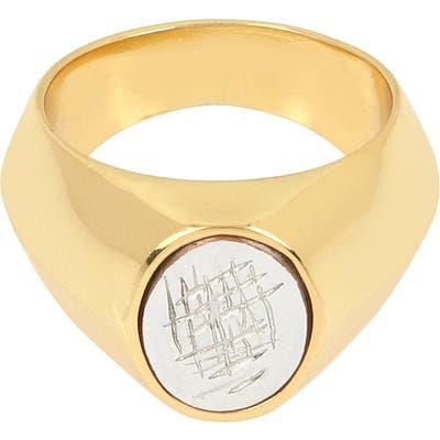 Allsaints Large Oval Signet Ring