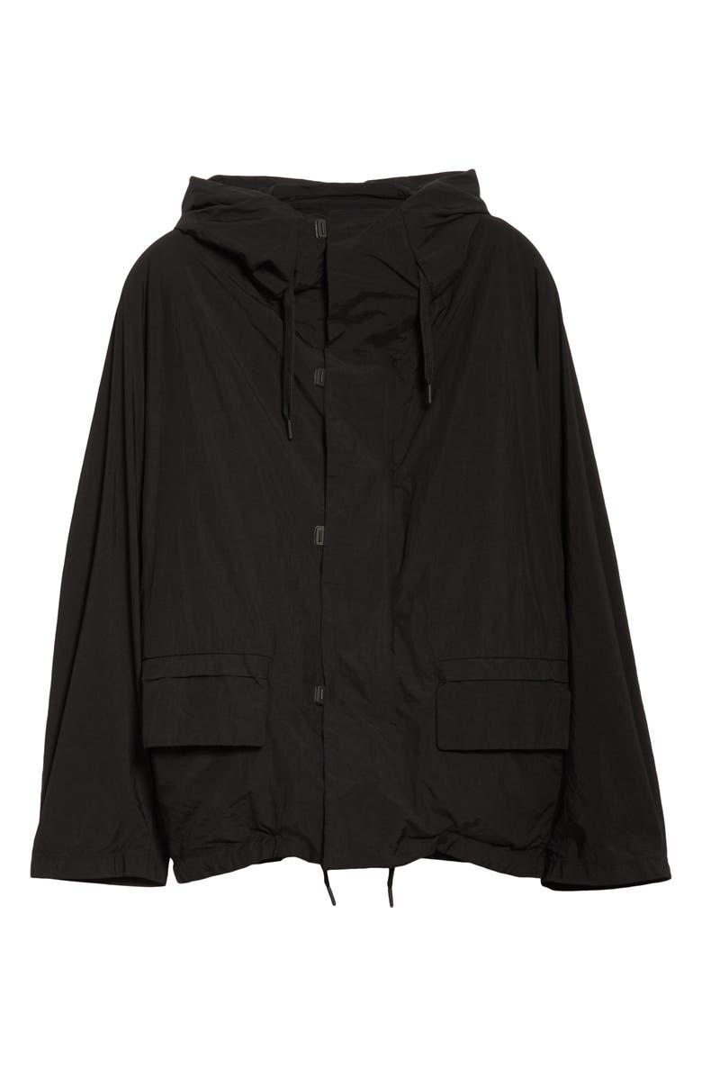 BEAMS TEÄTORA Hooded Souvenir Hunter Jacket, Main, color, BLACK