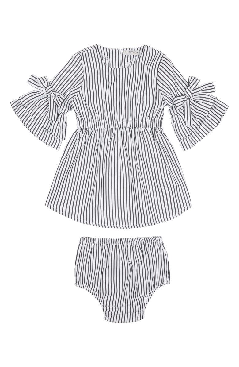 HABITUAL Leah Flare Sleeve Dress, Main, color, 001